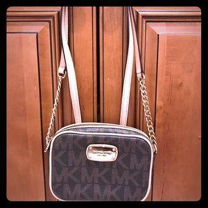 Brown / Tan crossbody mini bag
